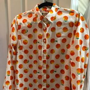"Jcrew ""oranges"" button-up"